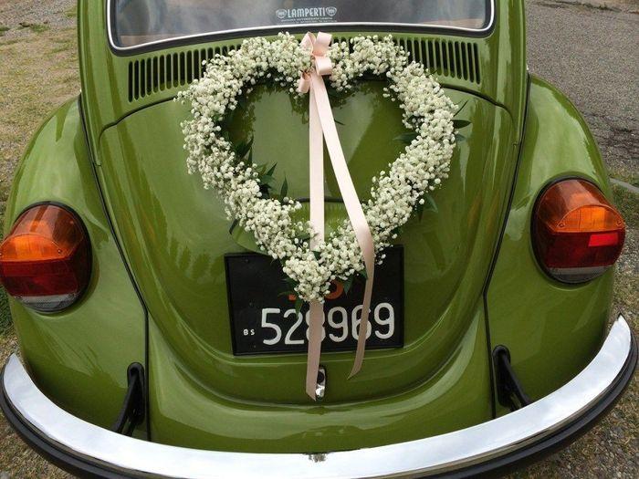 Ideas para decorar el auto el día de la boda 9