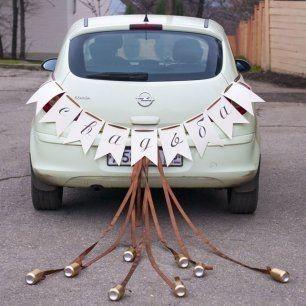 Ideas para decorar el auto el día de la boda 14