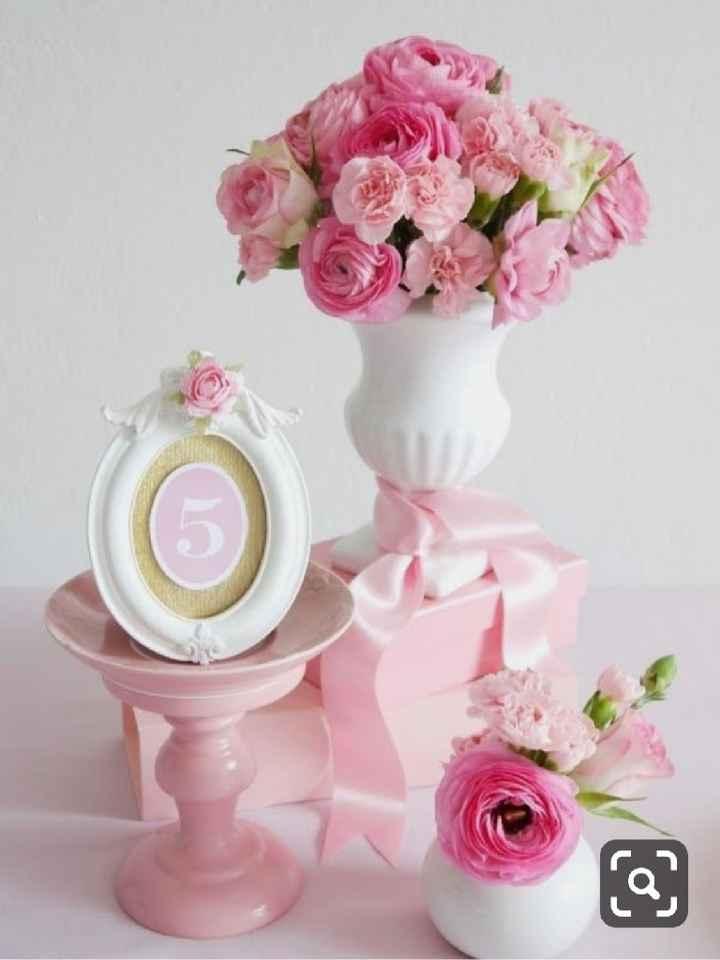 Números de mesa en color rosa - 2