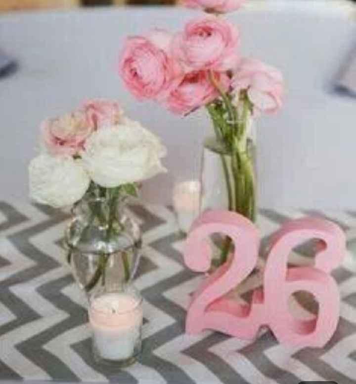 Números de mesa en color rosa - 3