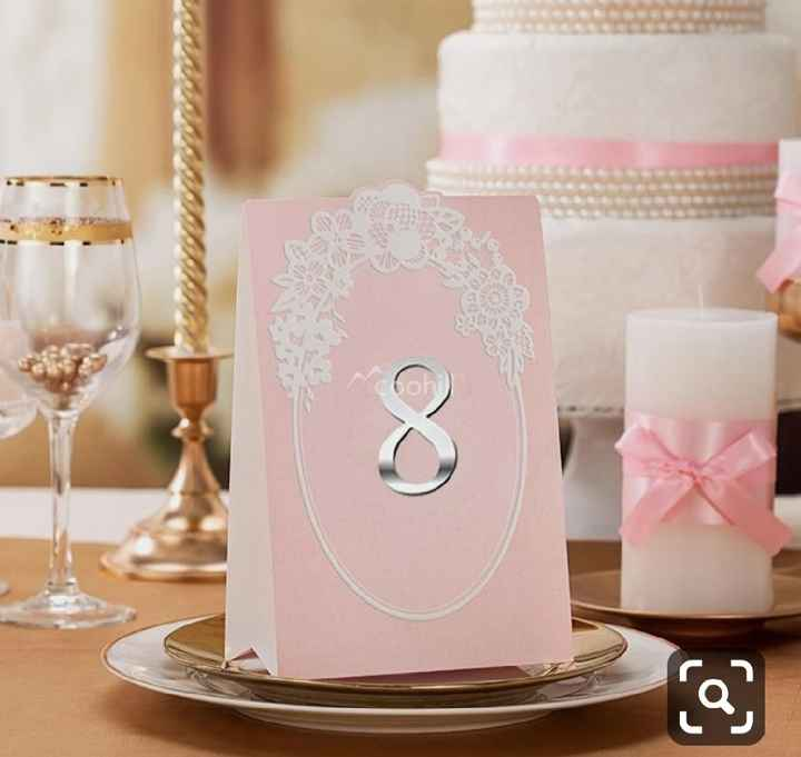 Números de mesa en color rosa - 4