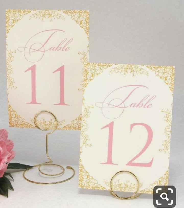 Números de mesa en color rosa - 8