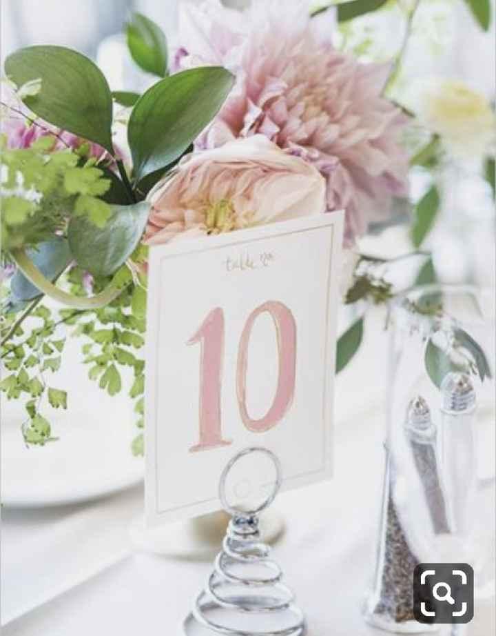 Números de mesa en color rosa - 9