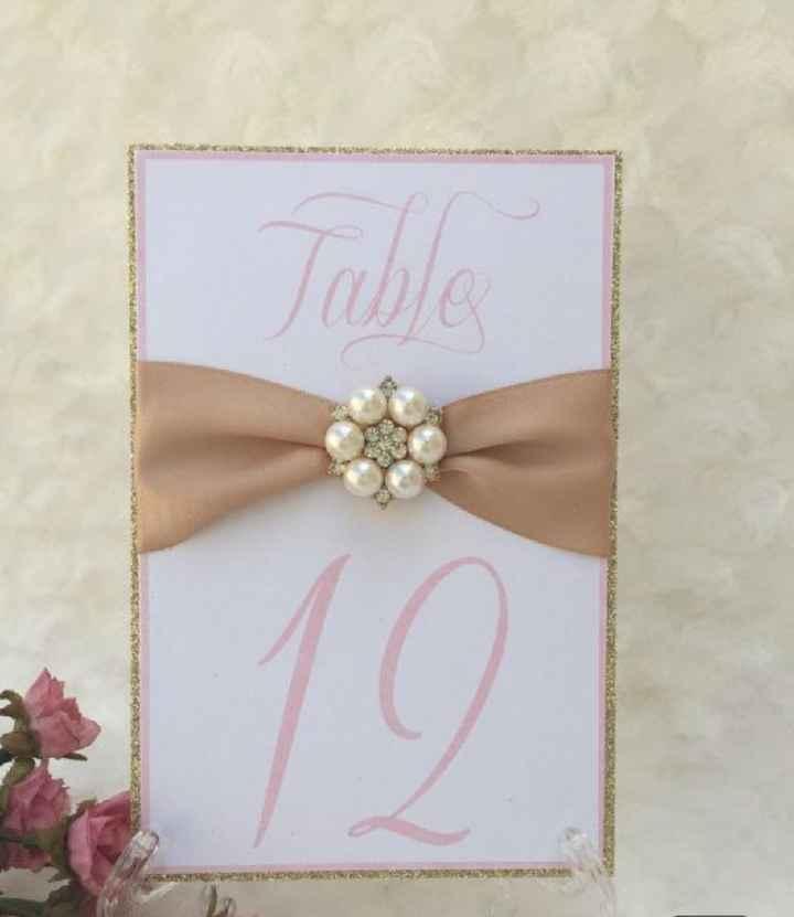 Números de mesa en color rosa - 10