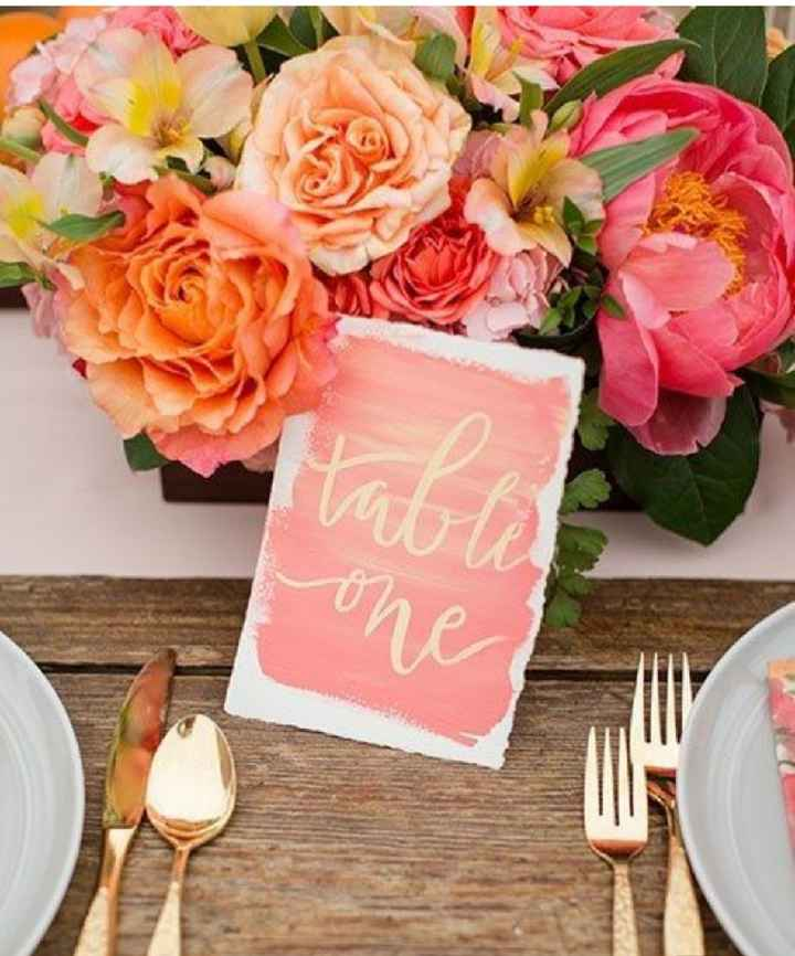 Números de mesa en color rosa - 11