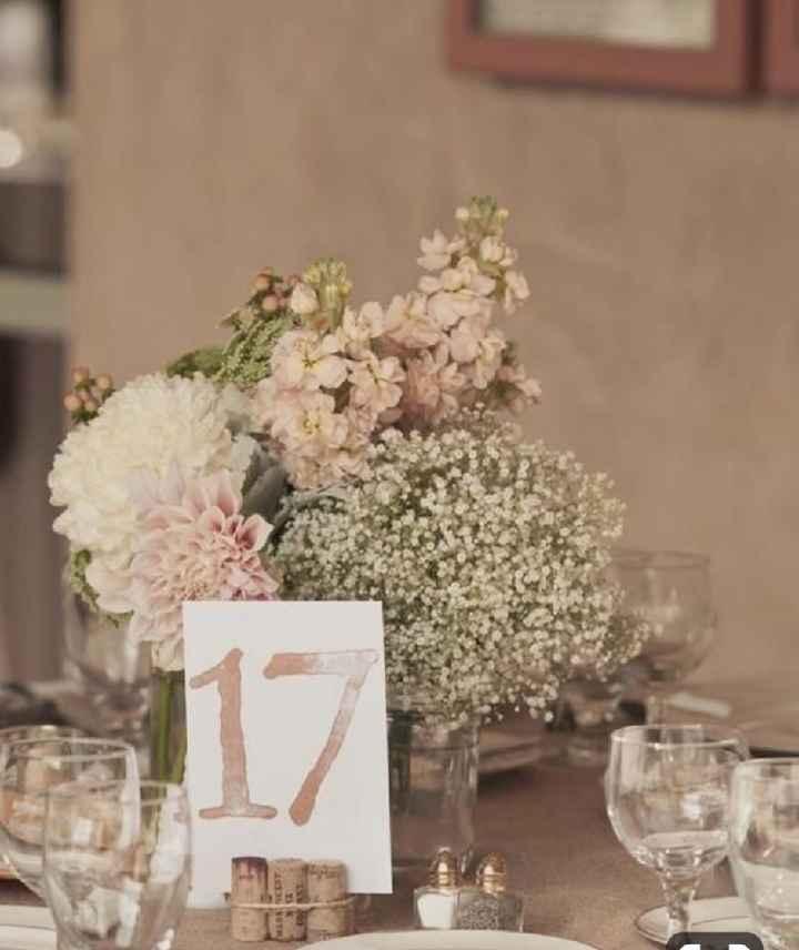 Números de mesa en color rosa - 12
