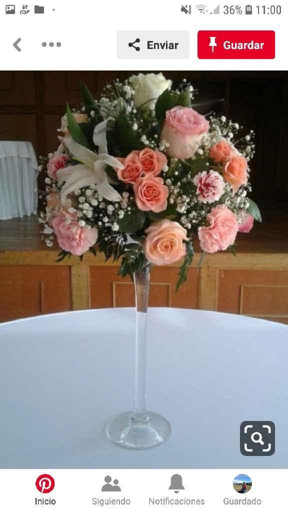 Centros de mesa en el mes rosa - 2