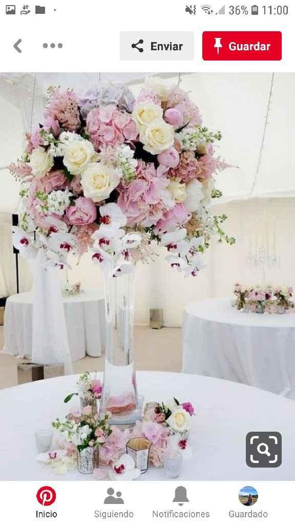 Centros de mesa en el mes rosa - 4