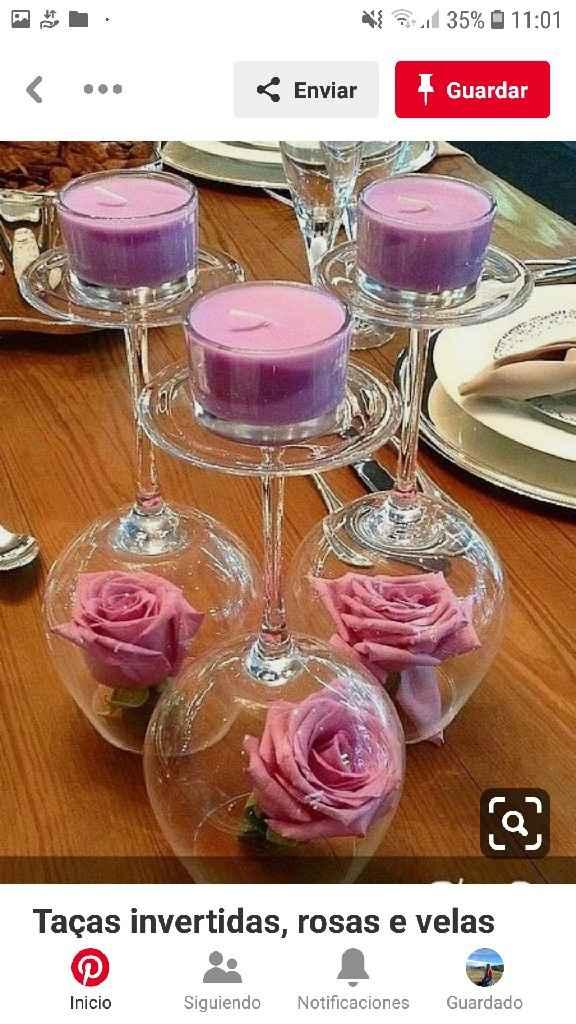 Centros de mesa en el mes rosa - 6