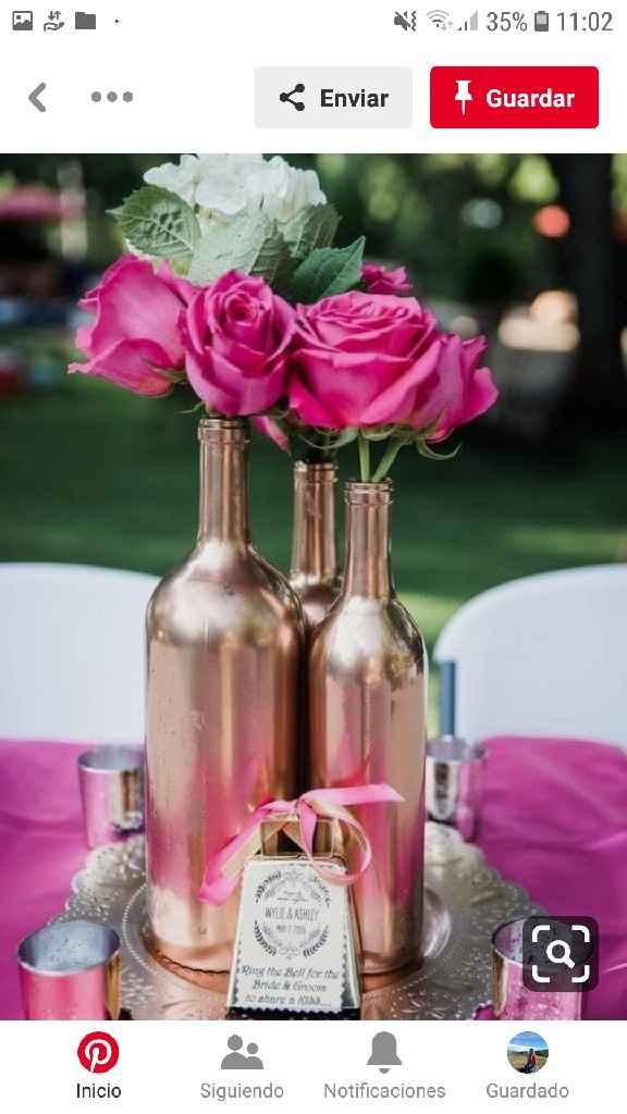 Centros de mesa en el mes rosa - 7