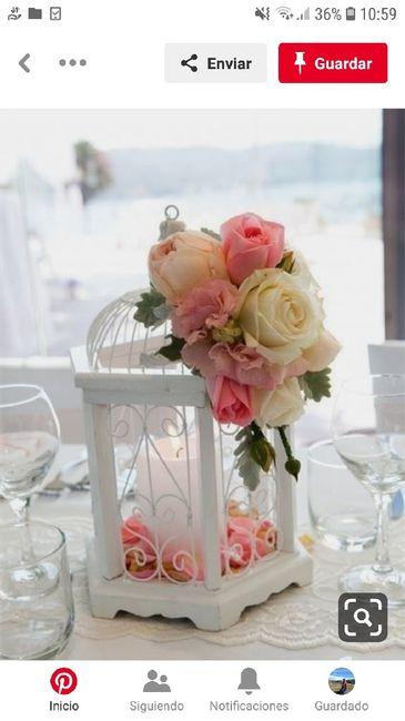 Centros de mesa en el mes rosa 1