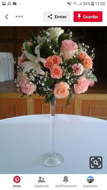 Centros de mesa en el mes rosa 2