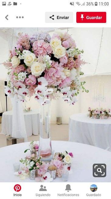 Centros de mesa en el mes rosa 4