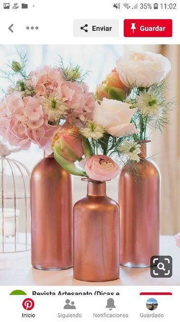 Centros de mesa en el mes rosa 9