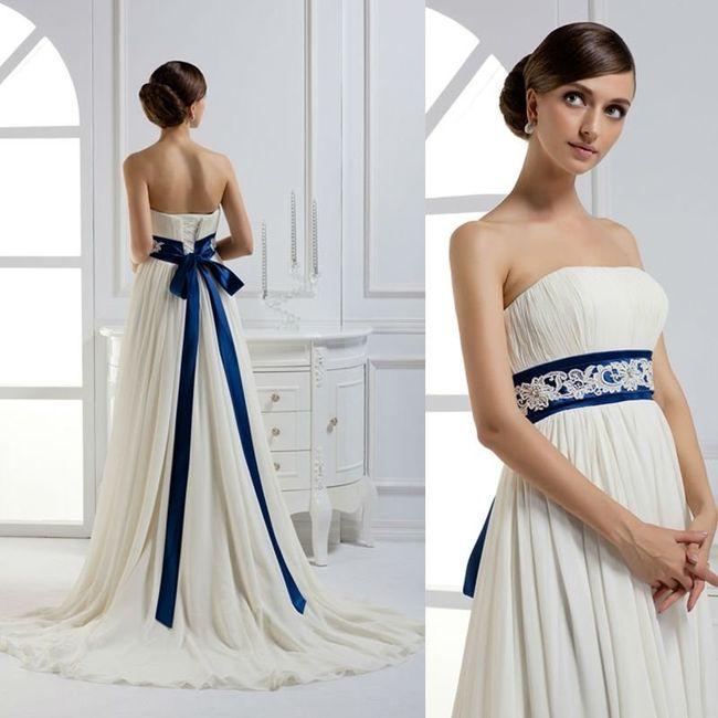 Detalles de color en tu vestido de novia