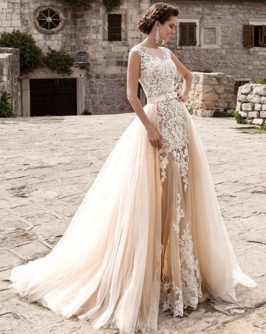 tu vestido de novia: la falda