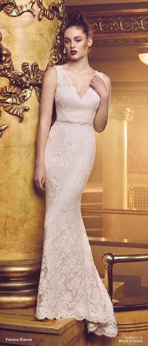 Vestido de novia ¿de encaje o liso? 1