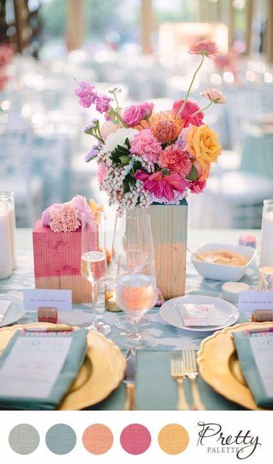 Casamientos al aire libre paletas de colores for Banco de paletas al aire libre