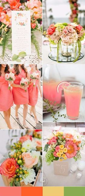 New Wedding Ideas 2018: Especial Primavera: Paleta De Colores