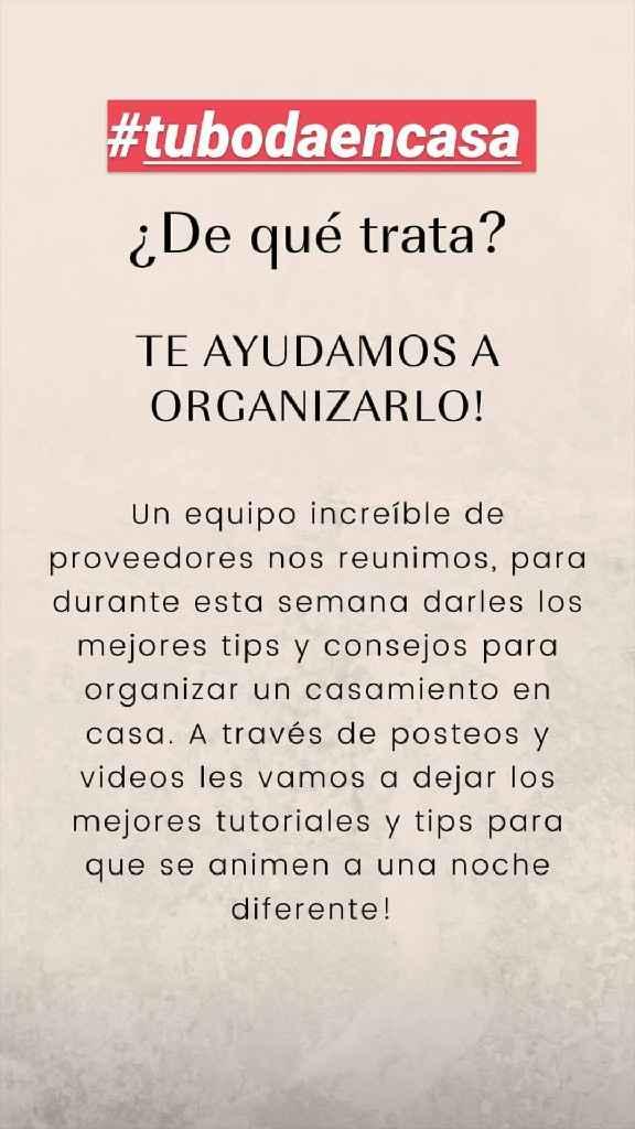 #Tubodaencasa - 2