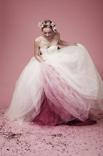 vestidos de novias no tradicionales - color