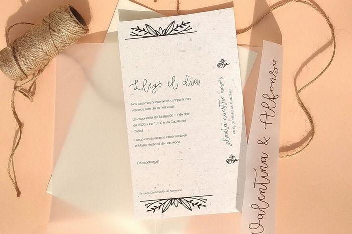 Tipos de papel ecológico para imprimir tus invitaciones 🍃 1