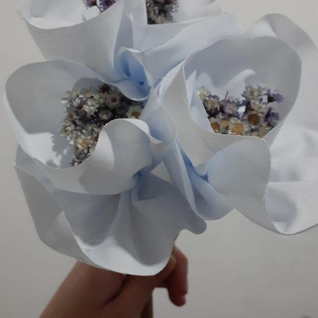 Sábado diy😃👉✂️ Flores de tela - 2