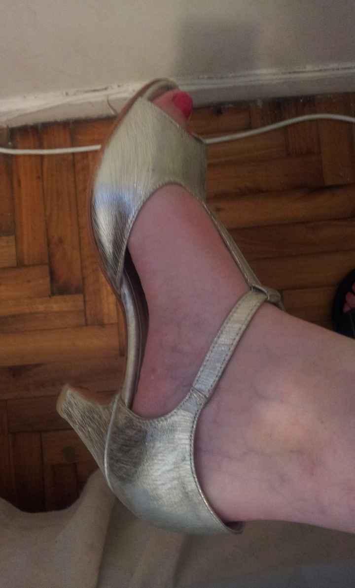 Consegui mis zapatos de novia con taco bajo!  - 1