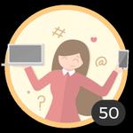 Bloggera (50). ¡Ya creaste 50 debates! Internet se convirtió en un medio en el que compartir tus ideas y tus dudas con los demás. Presumí con esta medalla de ser una auténtica blogger.