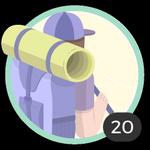Aventurera (20). Tu espíritu aventurero no conoce límites. Participaste en 20 debates así que ya podés lucir esta bonita insignia.