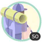 Aventurera (50). Tu espíritu aventurero no conoce límites. Participaste en 50 debates así que ya podés lucir esta bonita insignia.