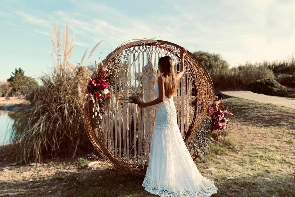 Backdrop romántico