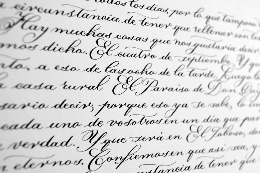 Estilo caligráfico formal