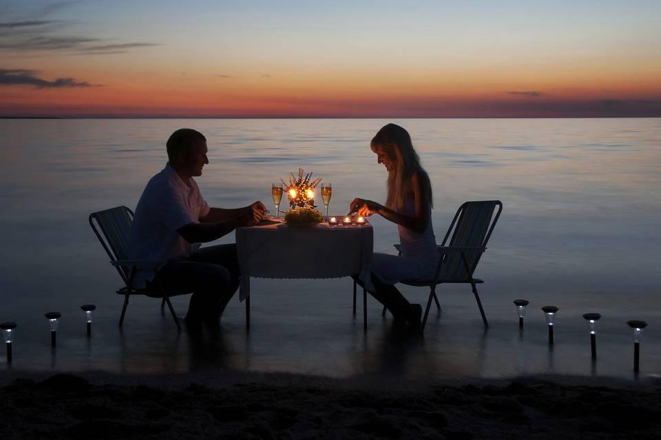 Cena romantica para dos