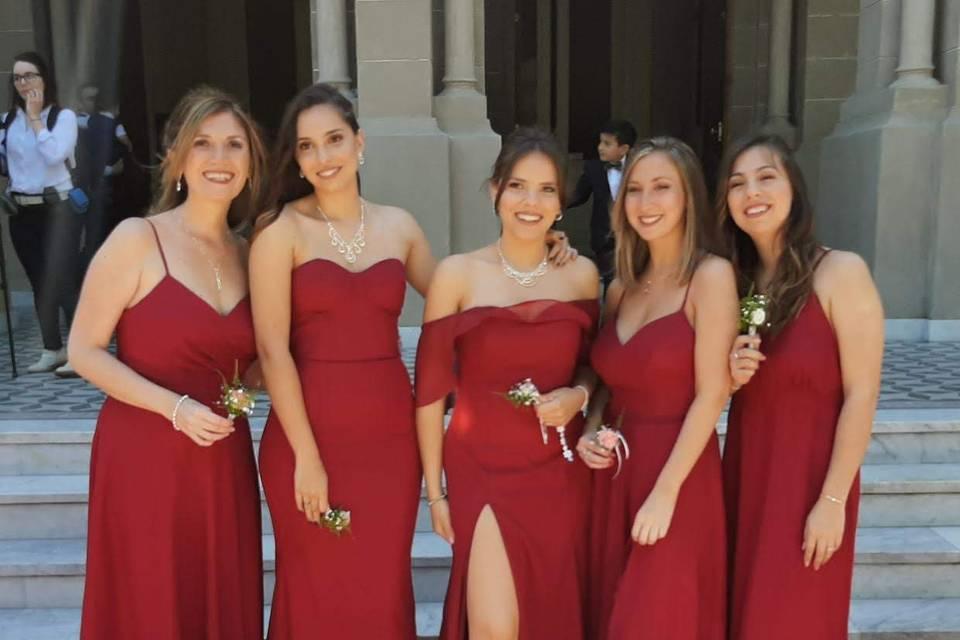 Damas de honor tomate