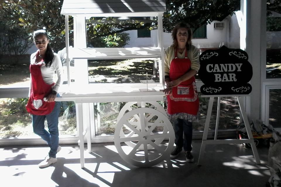 Carrito para candy bar