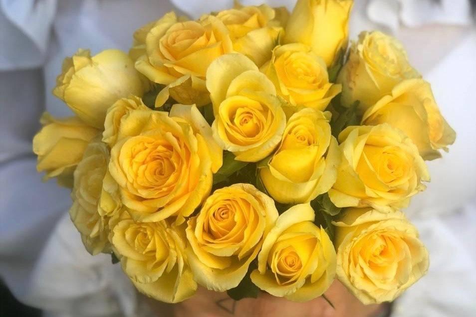 Ramo amarillo de ocasión