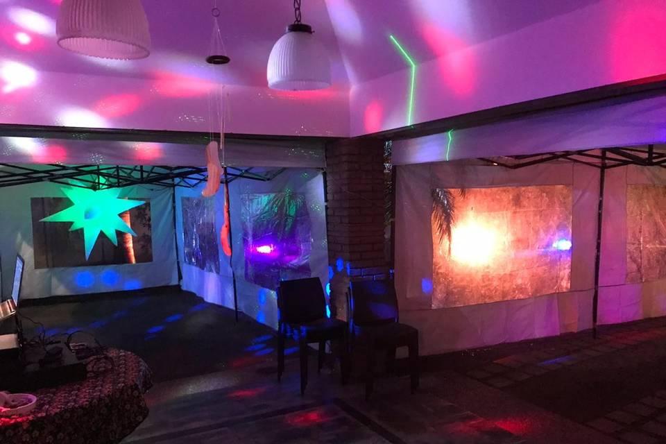 Gazebos con iluminacion decora