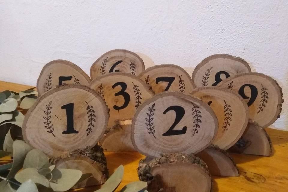 Números de centro de mesa