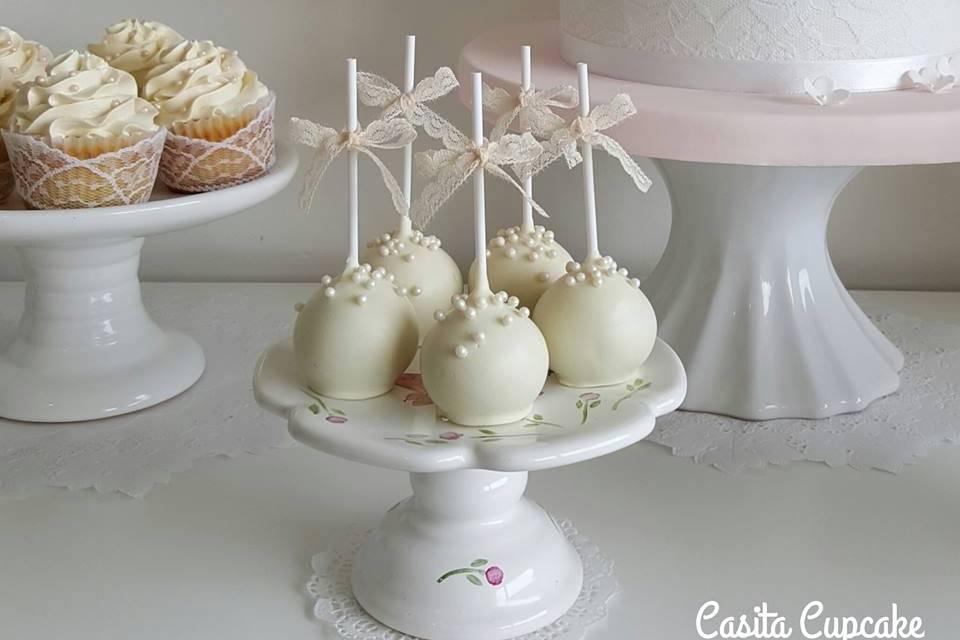 Cakepops de chocolate blanco