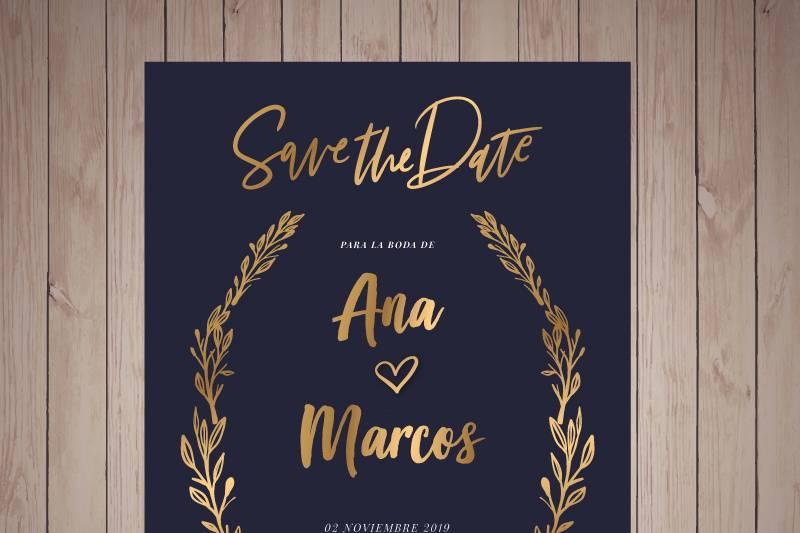 Invitación boda digital.