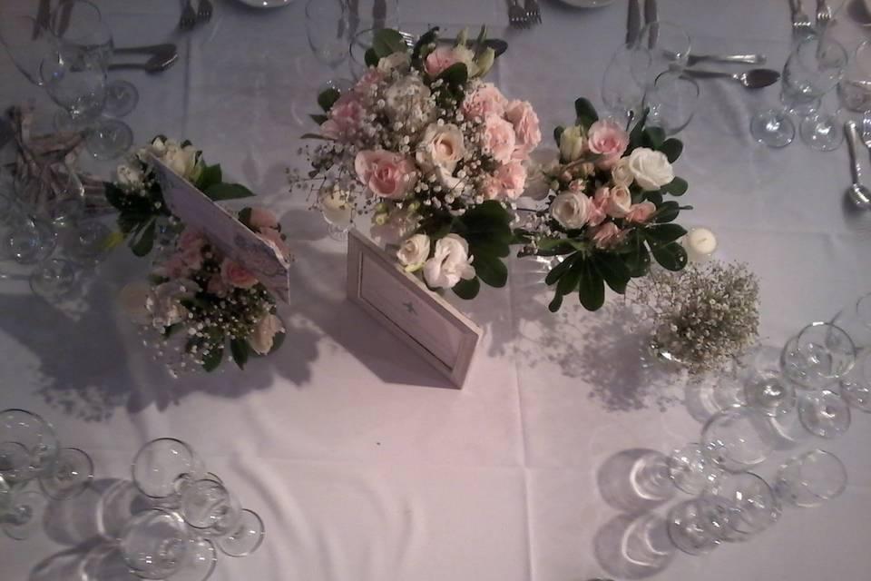 Mesas de invitados 5 floreros