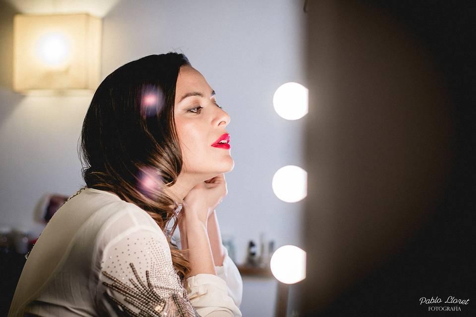 Backstage make up novia