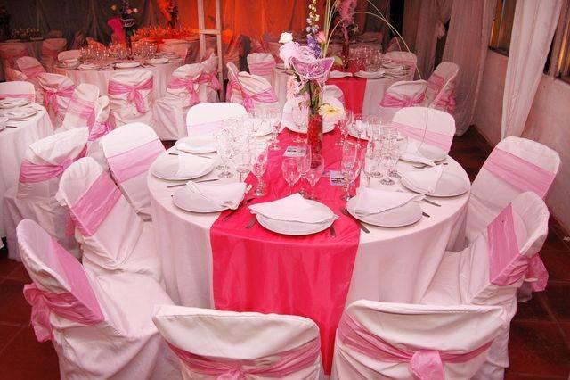 Mesa en rosa