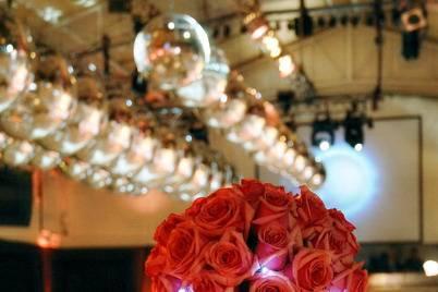 Centro de mesa de rosas
