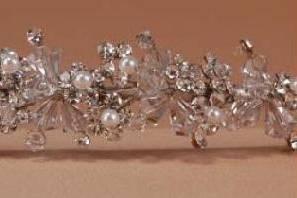 Tiaras con perlas y cristales