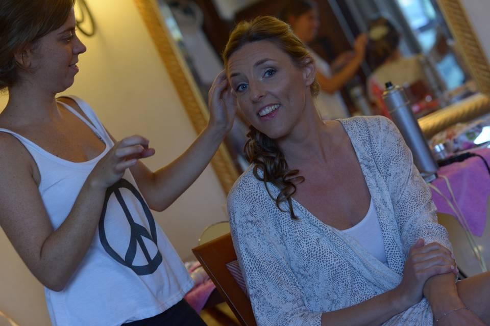 La novia momentos antes