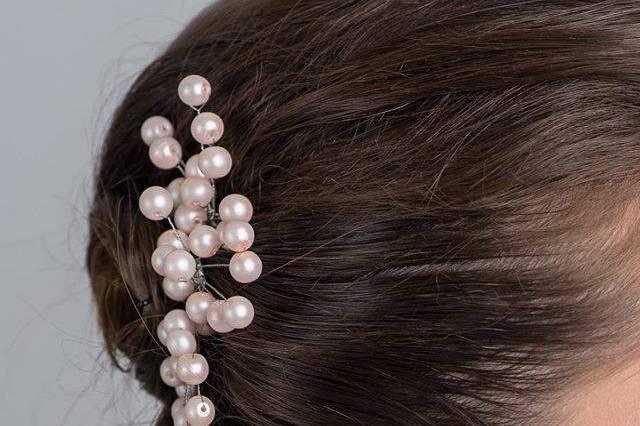 Pins de perlas Rosa Dior