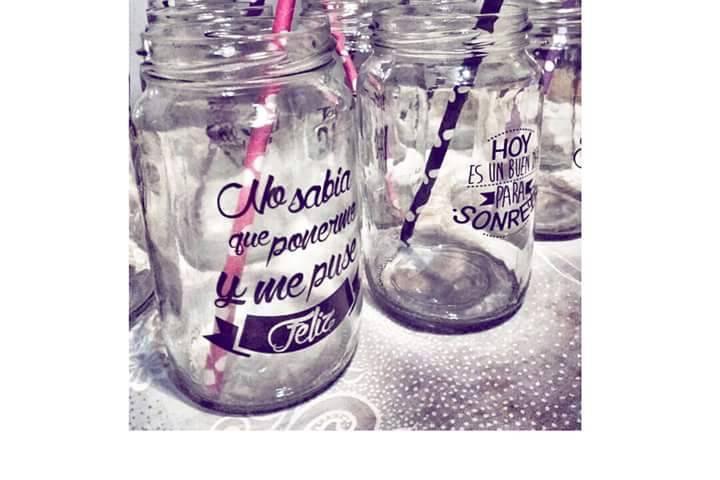 Frascos vasos personalizados