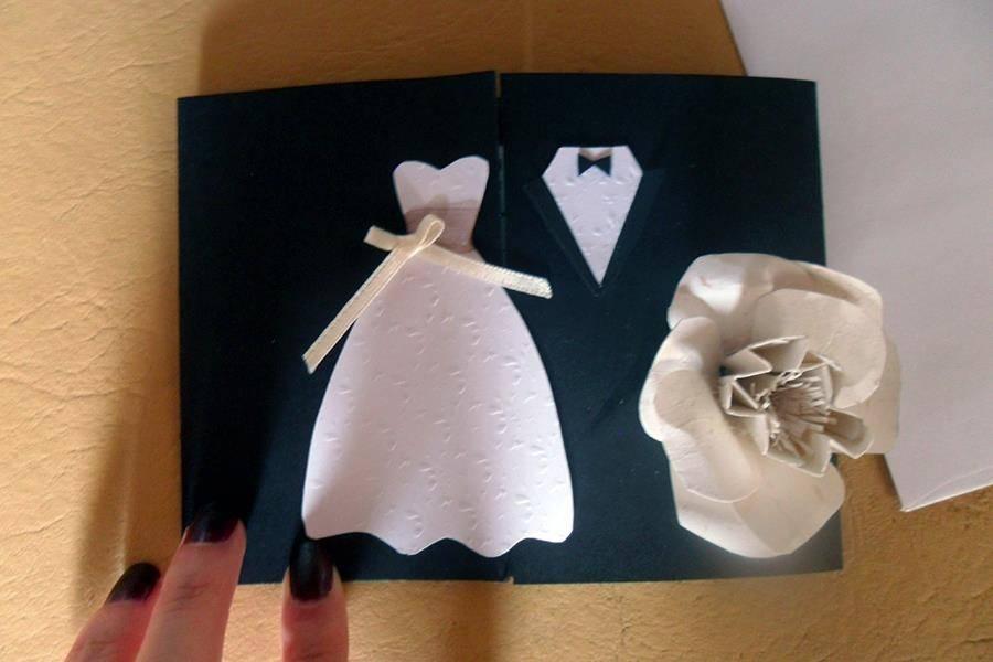 Tarjeta de casamiento con flor
